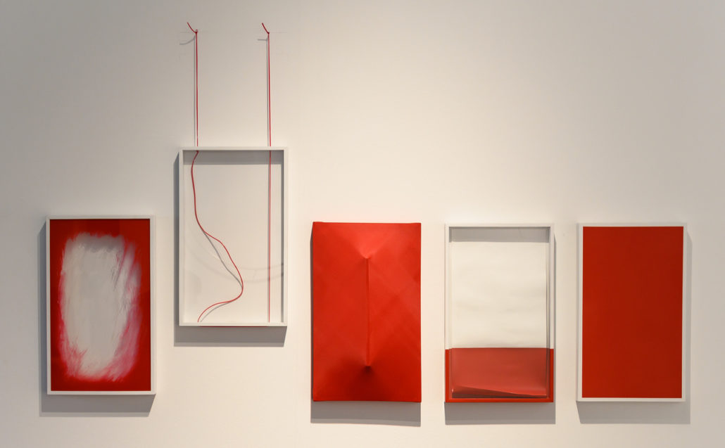 Marcolina Dipierro. Untitled (MP0001), 2018. Each frame (5 frames) mixed media, 40 x 30 cm