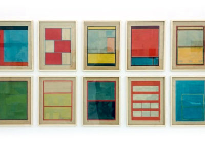 Andres Arzuaga, Untitled, 2014, Collage, 10 units, 15 x 11.42 in each 56 x 46.46 in.
