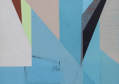 Jaime Gili, Guarimba renovada, 2017, Acrylic on linen, 71.65 in x 59 in