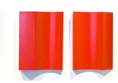 Marcolina Dipierro, Untitled, 2018, Painted iron, 200 x 70 x 10 cm