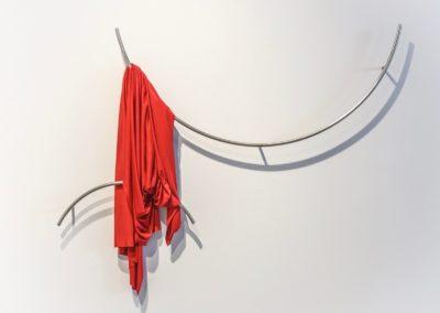 Marcolina Dipierro, Untitled, 2018, Stainless steel, silk