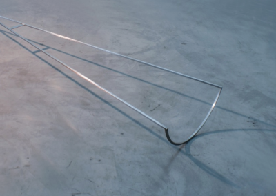 Marcolina Dipierro, Untitled, Stainless steel, 2019, 9.84 x 98.4 x 25.2 in